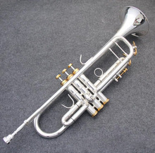 Kolns New Genuine Americano Top  trumpet gold and silver plated silver AB-190SBach small Musical instruments professional