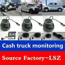 LSZ cash transport car 7 inch four-way SD card recorder MDVR bus / truck / harvester / bus car monitoring set