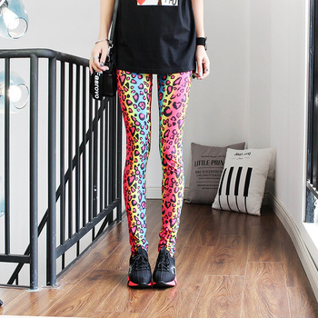 Fashion Leggings Sexy Casual Highly Elastic and Colorful Leg Warmer Fit Most Sizes Leggins Pants Trousers Woman's Leggings 3