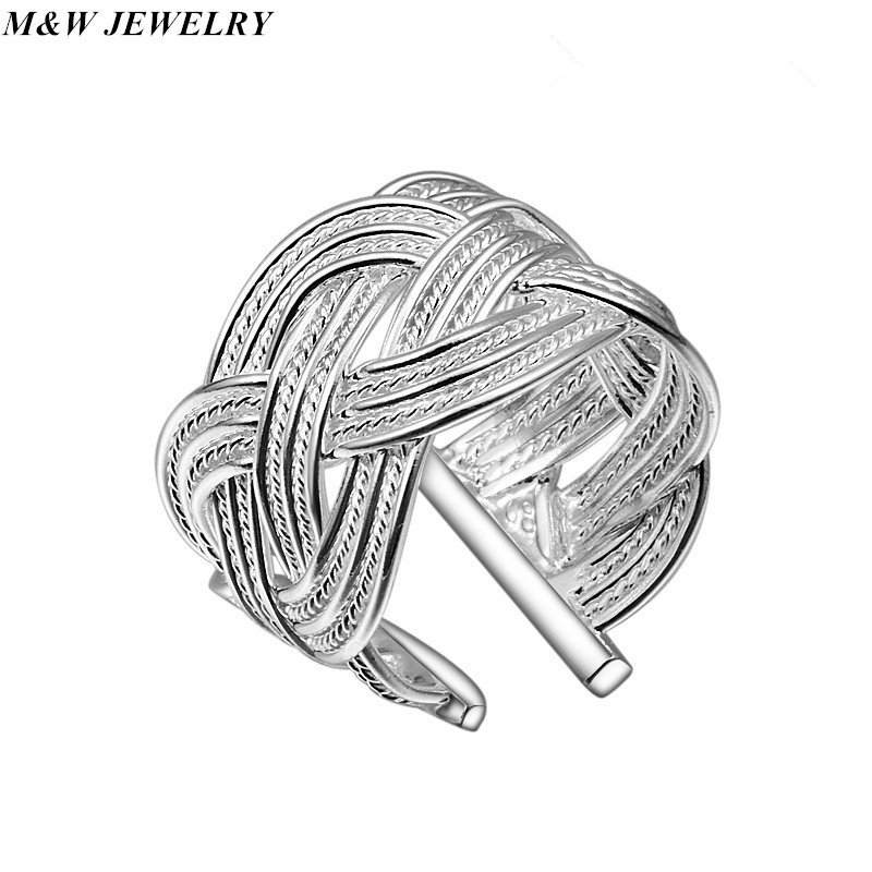 M&W JEWELRY 2014 Hot sell Chrismas gift silver plated ring fashion jewelry,Big reticulocyte ring Jewelry
