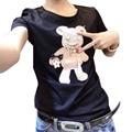 Mujeres de la camiseta camiseta japonés camiseta femme camisetas mujer blusa de algodón blanco negro tops plus tamaño feminino Ropa vetement