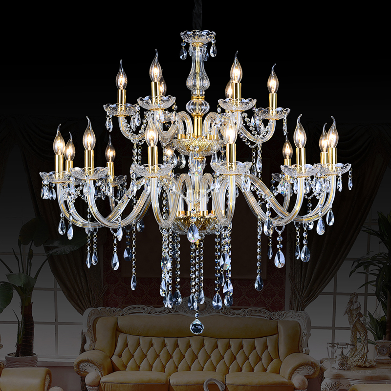Crystal Chandelier lighting chandeliers Gray Color Lustres de Cristal restaurant for dining Living Room Indoor Decoration lamp