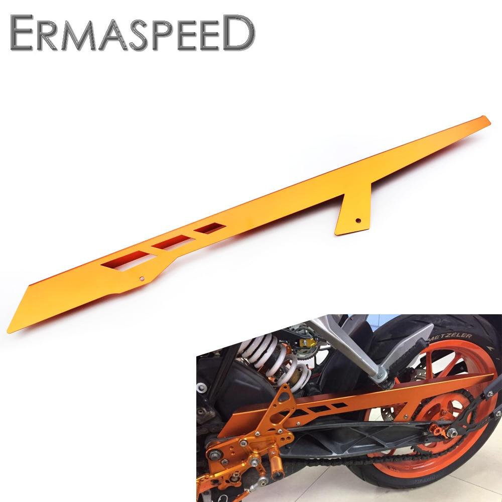 CNC alumínium motorkerékpár kiegészítők Láncvédő védőburkolat narancssárga a KTM DUKE számára 390 2013 2014 2015 125 200 ALL YEAR