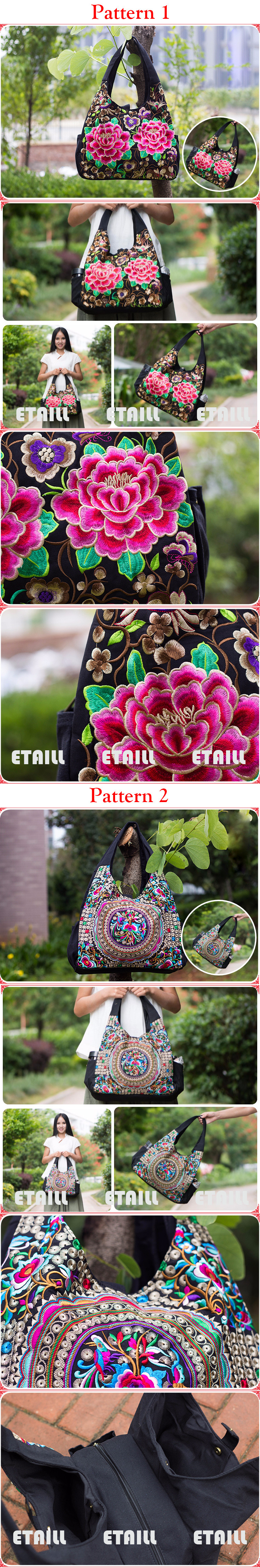 Embroidered Ethnic Bag Totes