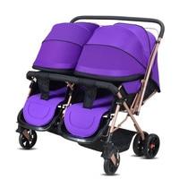 2017 Two Babies Strollers for Twins Old Bebek Arabasi Prams for Newborns Baby Girl&Boy Two Babies Stroller Baby Strollers Brands