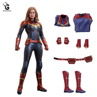Captain Marvel Costume PU Endgame Cosplay Women Quantum Suit Carol Danvers Costumes Halloween Costumes for Women Disfraz Mujer