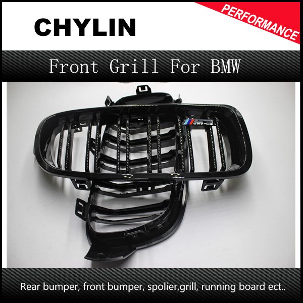 F30 F31 Dual Slat M Color Front Kidney Grill Grille for BMW F30 F31 F35 2012 - 2015 3 Series 316i 316d 318d 320i 325d 328i 335i 1 pair gloss black front kidney grilles grill car styling racing grills replacement grilles for bmw f30 f31 f35 320i 2012