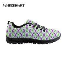 WHEREISART Mens Designer Shoes Men Purple Green Scissors Print Casual For Breathable Flats Sneakers Male Fashion