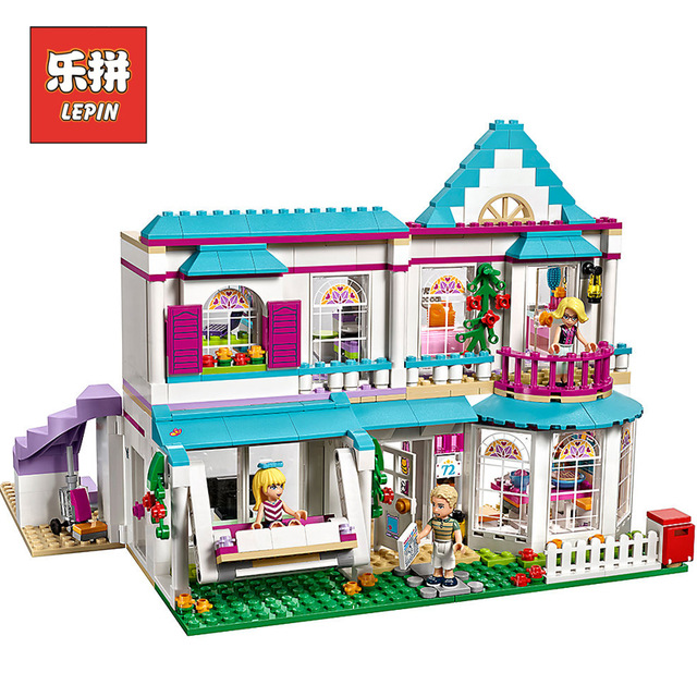 lepin Friends 01014 Good Girl the Romantic Doll House Model Set Building Blocks Compatible 41314 Legoinglys Friends Kids Toy ...