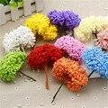 12 unids/lote /mini Artificial espuma estrellas flor ramo para San Valentín cumpleaños regalo boda coche fiesta decoración flores