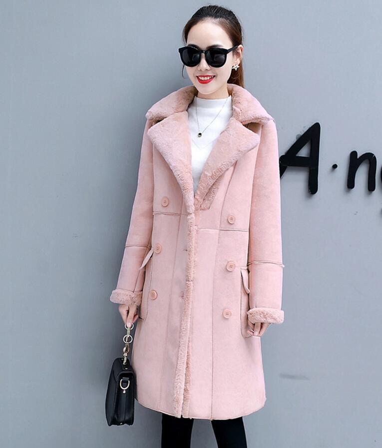 d251b69a3fa7 2018 nouveau automne Hiver Femme Manteaux En Peau de Mouton mode Faux Suede  En Cuir plus
