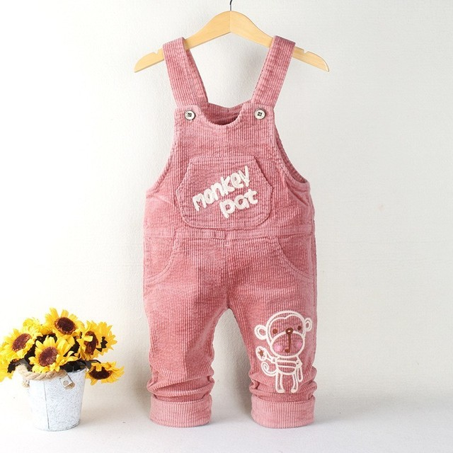 4301b56ad2c Spring Autumn Unisex Baby Overalls Fashion Monkey Cartoon Jumpsuit Toddler  Girls Boys 1-3 Y Corduroy Overalls Kids Pants Arrival