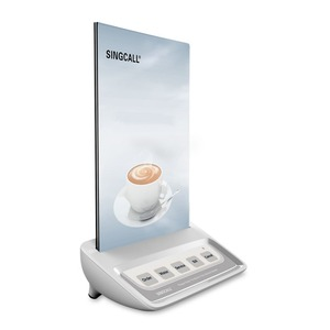 Image 2 - SINGCALL Calling  System waiter call button, white call pager with 5 keys entertainment places buttons