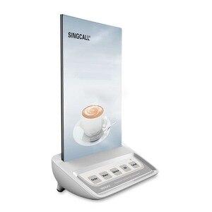 Image 2 - Singcall hệ thống gọi điện thoại nút gọi bồi bàn, trắng cuộc gọi máy nhắn tin với 5 phím nơi vui chơi giải trí nút