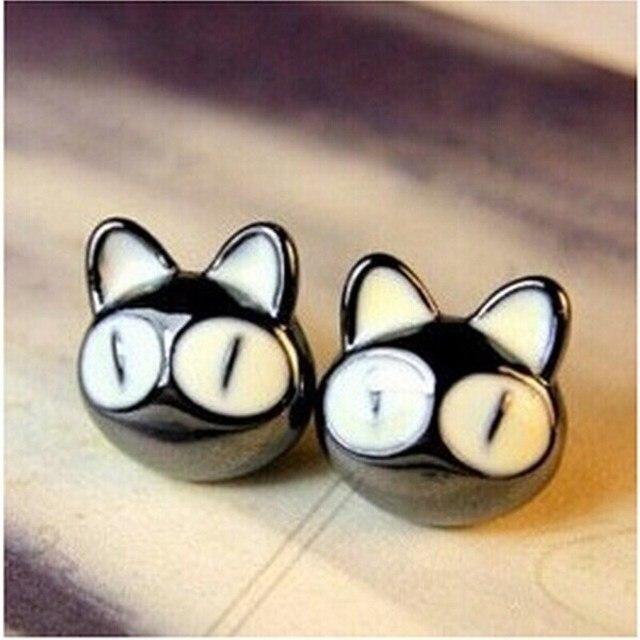 2018 Novo de Alta qualidade Coreano moda jóias personalizadas selvagens temperamento encantador grandes olhos pequeno gato brincos para mulheres 4ED143