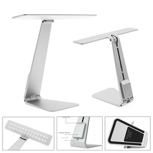 Image 5 - Ultrathin Mac Style LED Desk Lamp 3 Modes Touch Dimming Reading Table Lamp Soft Eye Protection USB Rechargeable LED Night Lights