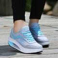 2016 Spring Women Casual Shoes Woman Platform Wedges footwear 5cm Heel Hight Shook Loafers Zapatillas Deportivas Zapatos Mujer