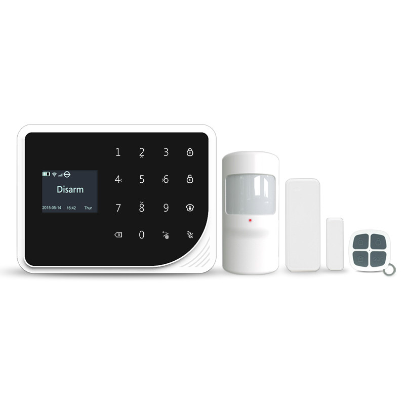 Newest 433mhz Wifi GSM home alarm system APP learning sensors / mobile phone call / Wifi push message wifi alarm mastering mobile learning