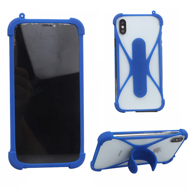hot sale online 61858 e4d48 US $2.79 30% OFF|For Archos sense 47x Case 4.7 inch Universal Silicon with  Stand Phone Case For Argos Bush 5 Inch Android Smartphone Soft TPU-in Phone  ...