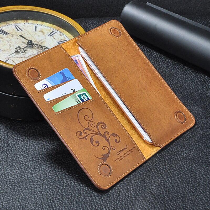 6,0 Universal Vintage Leder Flip Brieftasche Tasche Für iPhone XR XS 8 7 Plus Für Samsung Für Huawei Handy fall CORNMI