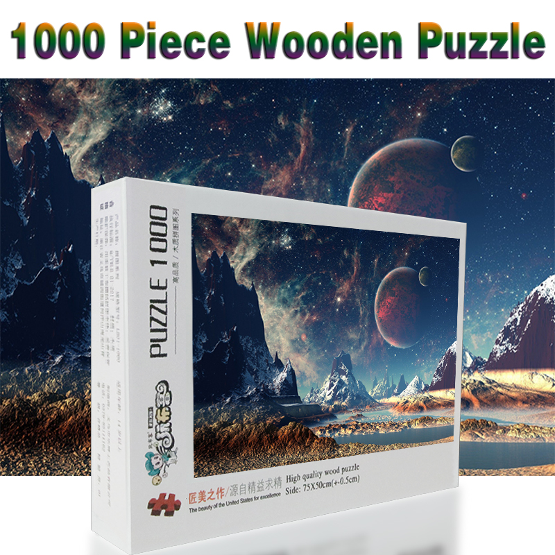 Beautiful Planet Puzzle 1000 Pieces Adult Puzzle Wooden Puzzle Cartoon Jigsaw Puzzles For Children Educational Toys Gifts