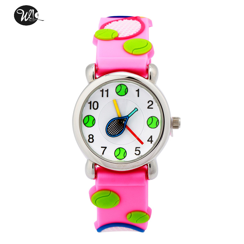 Children's Gift Watch Quartz 3D Strap Cartoon Tennis Watch Pointer Fashion Electronic Waterproof Watch Children's Watch