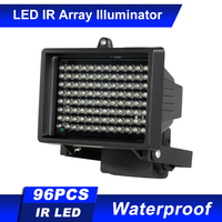 Iluminadores IR de 60m de distancia IR, 96 LED, impermeables, luz infrarrojo IR, lámpara LED de visión nocturna, luz de relleno para cámara de seguridad CCTV