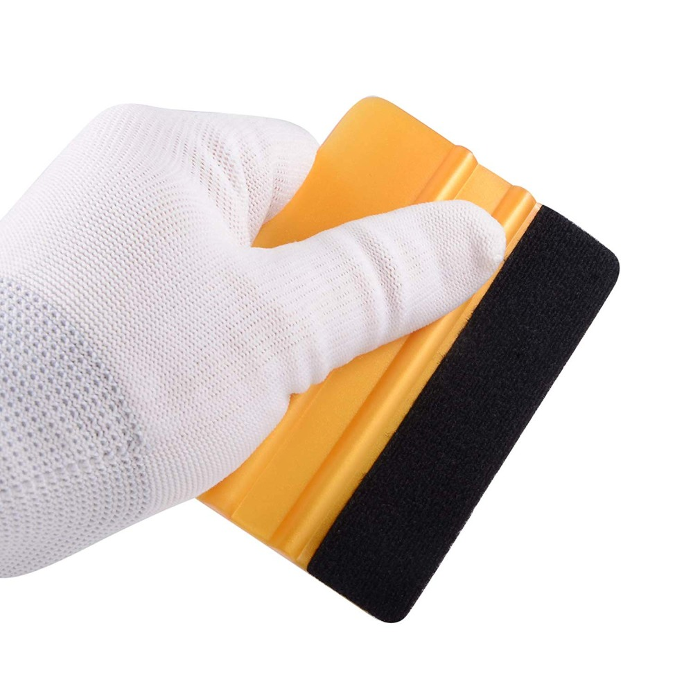 EHDIS Vinyl Wrap Film Felt Squeegee Carbon Fiber Wrapping Tool Auto Foil Window Tint Household Cleaning Tool Car Ice Scraper