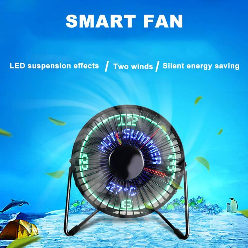 3 in 1 Mini Fan Desktop USB Air Cooling Fan Portable Ventilation Cooling Fan LED Temperature Display Clock 2 Modes цены