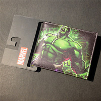 Wholesale DC Drift Series Wallet Purse10 of super heros Punisher Hulk Iron Man Venom Flash Thor Clown Deadpool Cartoon Wallet Girl's Shoes
