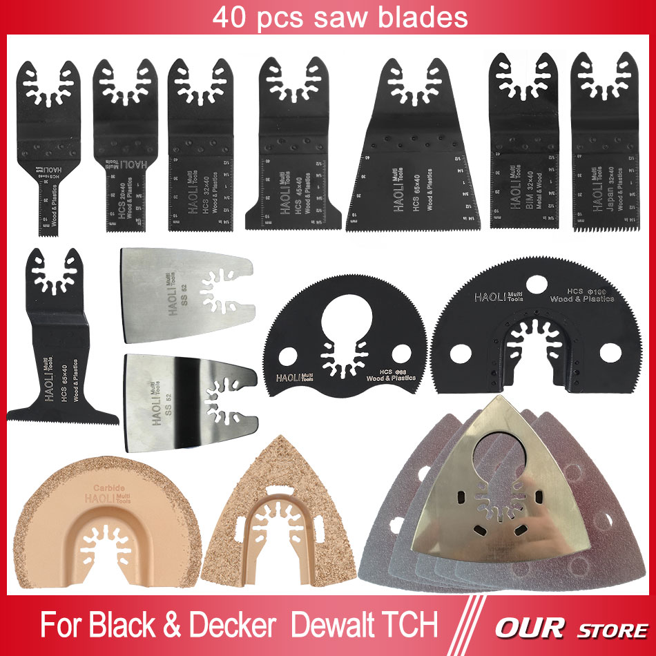 ФОТО 40 pcs oscillating tool saw blade accessories for multifunction electric tool as Fein power tool etc,wood metal cutting,home DIY