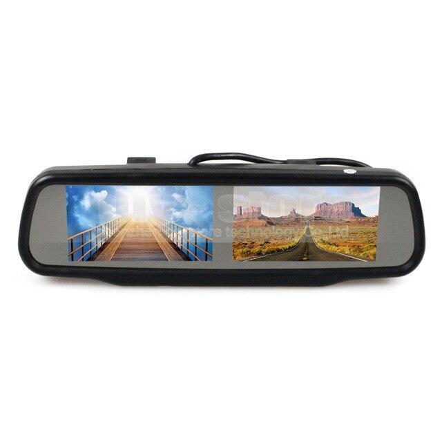 DIYKIT Двойной 4.3 дюймов TFT ЖК-Монитор Зеркала для Dvd-видео Плеер Вспять Резервного Копирования Камера Автомобиля