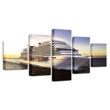5 Panel Giant Cruise Ship Wall Art