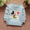 Frete grátis primavera criança e outono baby boy da longo-luva camisola outerwear bebê top