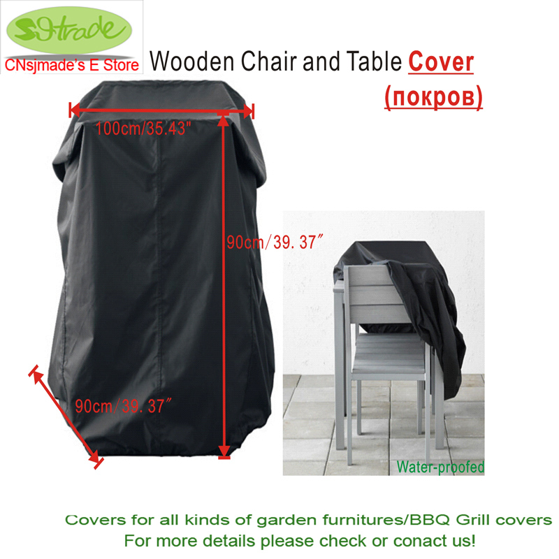 buy wooden chair and table cover black