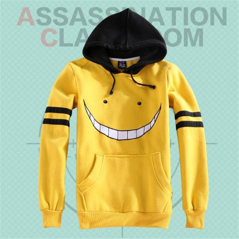 BOOCRE Anime Assassination Classroom Cosplay Korosensei  Costumes Hoodies Unisex Adult Yellow Hoodie Clothing