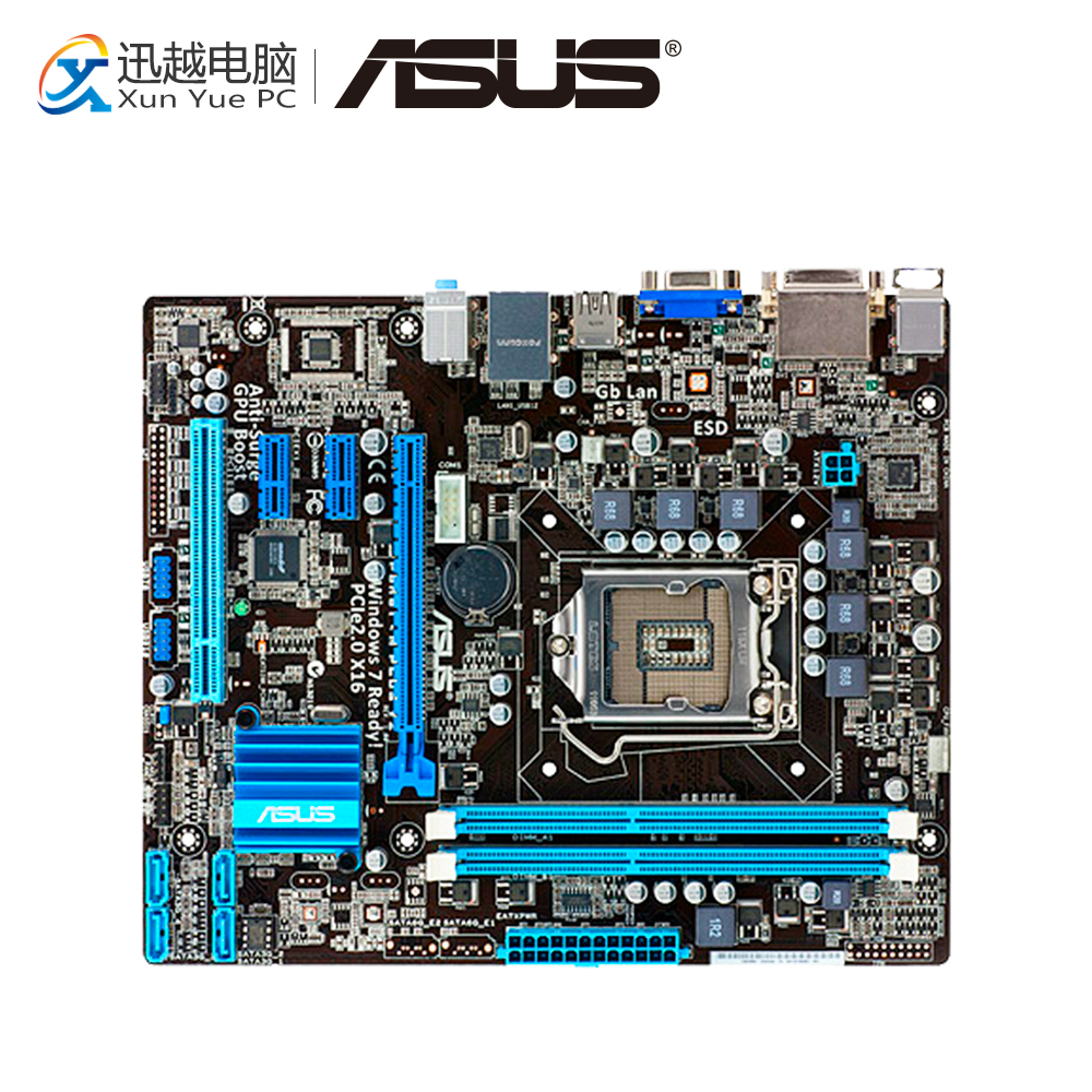 Asus P8H61-M PLUS V2 Desktop Motherboard H61 Socket LGA 1155 i3 i5 i7 DDR3 16G uATX On Sale asus p8h61 m lx plus desktop motherboard h61 socket lga 1155 i3 i5 i7 ddr3 16g sata2 usb2 0 vga com port