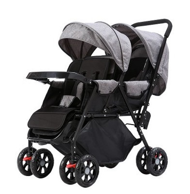 Twins Baby Stroller Can Sit Lying Fold Lightweight Double Baby Hand Pushing Buggies 2 In 1 Baby Carriage Baby Double Stroller image