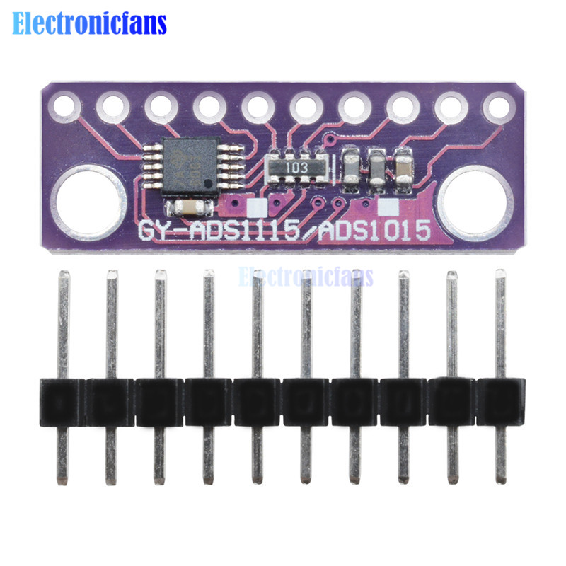 ADS1115 Module 16 Bit IIC I2C 4 Channel ADC with Pro Gain Am