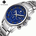 Top Brand Multifunction Sports Watches Men Quartz Watch Male Steel Army Military 6 pin Day Date 24 Hours Wrist Watch Waterproof