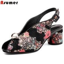 Estampado Alto De Promoción Flores Zapatos Compra Tacón fmyb7gIY6v