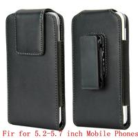 Vertical Belt Clip Leather Case Fit For 5 2 5 7 Inch Rotating Holster Cover For