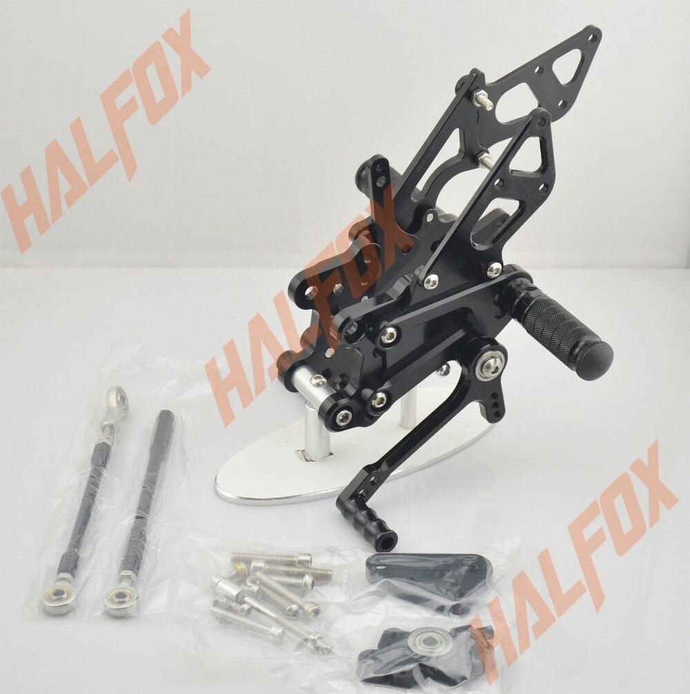 Black  CNC Rearset Foot  Pegs Rear Set For  Honda CBR600RR F5 2007 2008 2009 2010 2011 2012 2013 2014