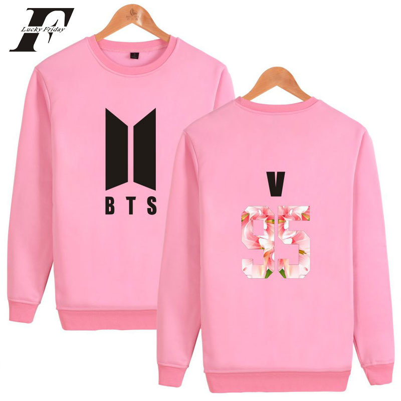 Top Sale Harajuku Hip Hop BTS Kpop 95 Sweatshirt Men/Women Bangtan boys moletom masculino Hoodies clothing tracksuit hoodie ...