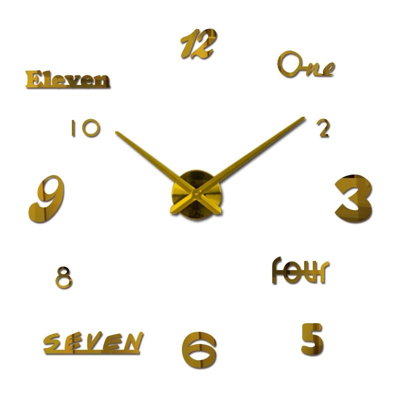 새로운 벽 시계 쿼츠 시계 reloj 드 깎았 현대적인 디자인 큰 장식 시계 유럽 아크릴 스티커 거실 klok