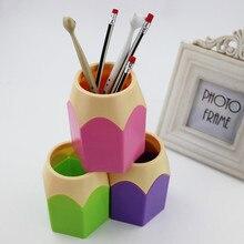 Щетку карандаша ваза tidy контейнер держатели горшок pen творческий ручки канцелярские