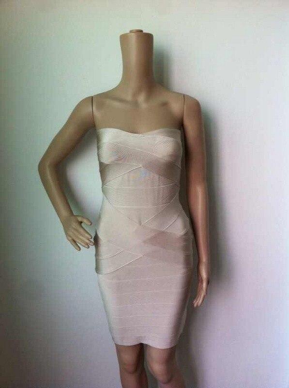 Ким Кардашьян, без бретелек, с открытыми плечами,, сексуальное женское платье, вискоза, бодикон, опт, дешевые мини обнаженные платья - Цвет: X Nude