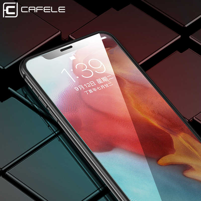 CAFELE Tempered Glass for iPhone 11 pro max x xs max xr 8 7 6 6s plus 5 5s se Sreen Protector HD Clean Transparent Glass Film