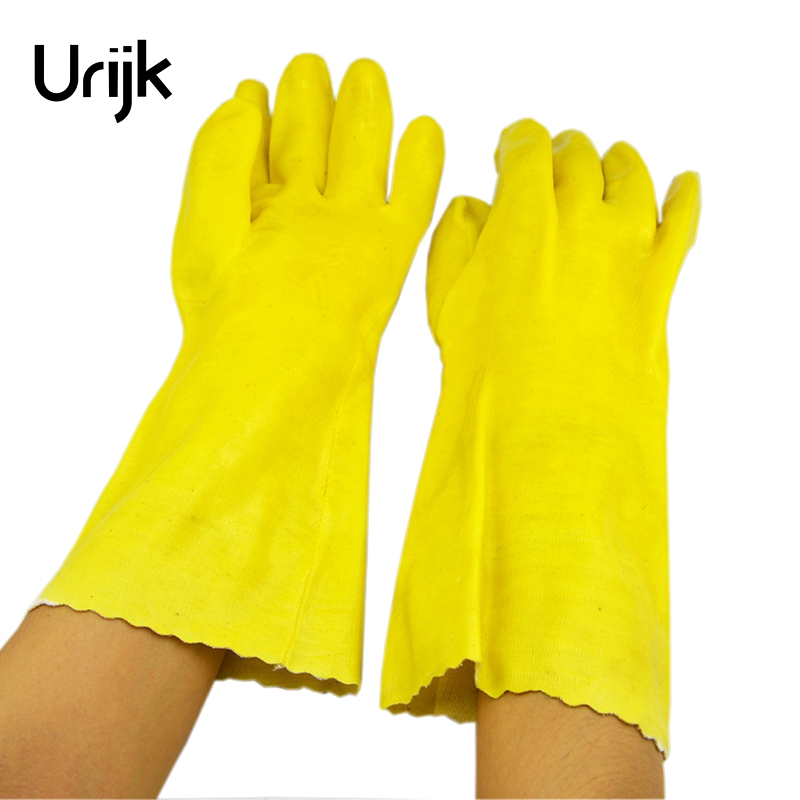 Urijk 1Pair Latex Protective Gloves Acid Alkali Corrosion Resistance Work Gloves Multifunctional Model Making DIY Hand Tools