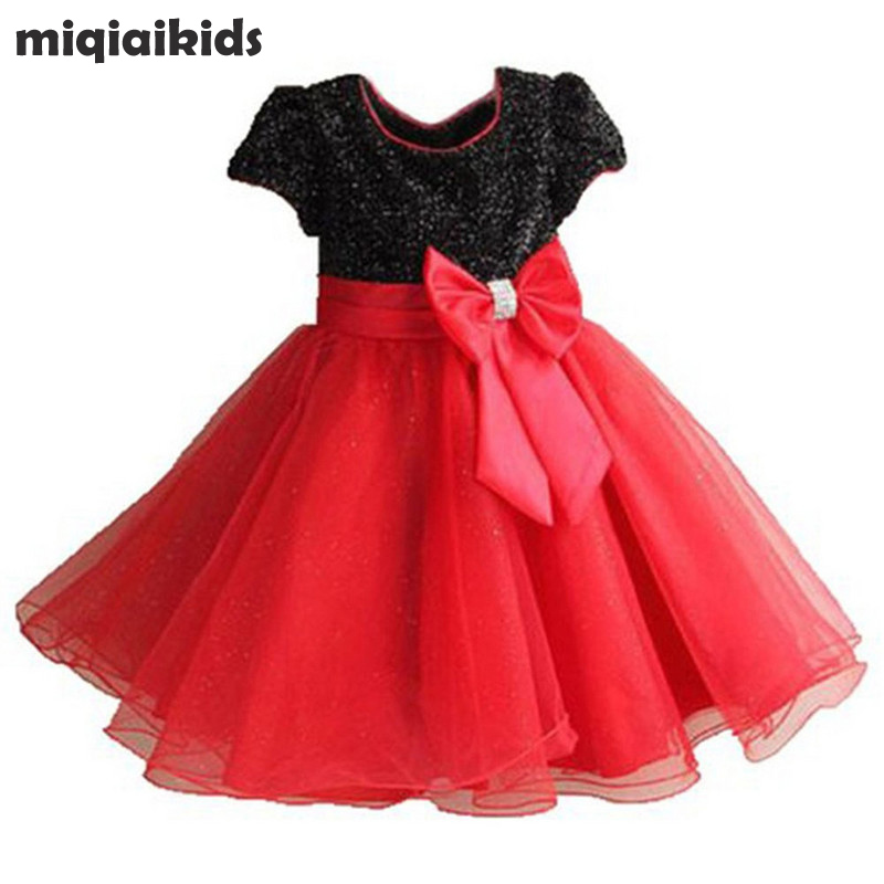Retail Elegant dress party baby girl princess dress